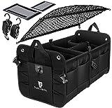 TRUNKCRATEPRO Premium Multi Compartments Collapsible Portable Trunk Organizer for Auto, SUV, Truck, Minivan with Black Cover Net: more info
