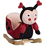 Rockin' Rider Lala The Ladybug Baby Rocker Plush Ride-On, Red