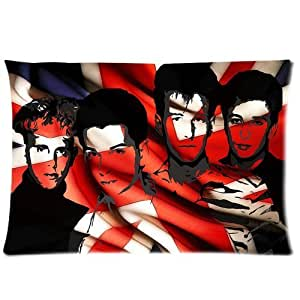 Generic Personalized Depeche Mode Alternative Pop/Rock Band American Flag Design Sold By Too Amazing Roomy Zippered Pillowcase 30x20 inches (One Side)