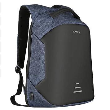 LETAMG MOCHILAS 15.6 Mochila para Ordenador portátil Bolsa de Seguridad Cargador USB para Mujer Escuela Portátil Impermeable Bolso de Viaje, ...