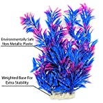 Otterly Pets Plastic Plants for Fish Tank Decorations Large Artificial Aquarium Decor and Accessories - 8-Pack 11