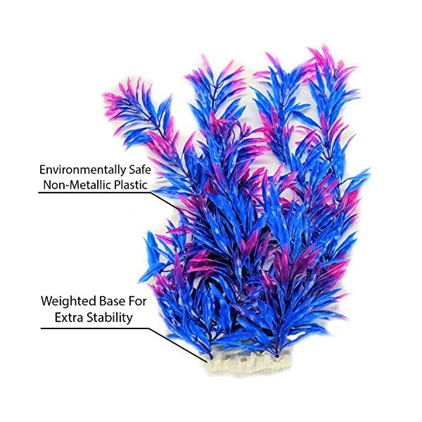 Otterly Pets Plastic Plants for Fish Tank Decorations Large Artificial Aquarium Decor and Accessories - 8-Pack 4