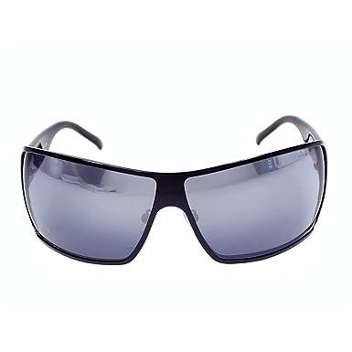 1ffa2461aa2 Police 8568 08YD Black 8568 Visor Sunglasses Lens Mirrored  Amazon.co.uk   Clothing