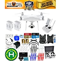 DJI Phantom 4 Advanced Drone MEGA Ready To Fly EXTREME ACCESSORY BUNDLE With 2 Batteires (Total), Vest Strap, Extra Props, Landing Pad, Filter Kit Plus Much More (Aluminum Case)