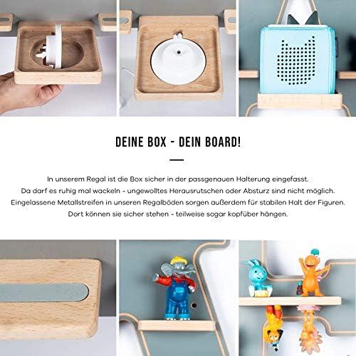 BOARTI Kinder Regal Trecker small in Grau - geeignet für die Toniebox und ca. 23 Tonies - zum Spielen und Sammeln