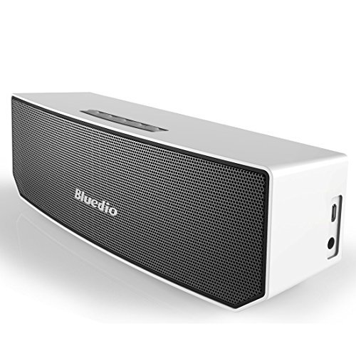 Bluedio BS-3 Portable Bluetooth 4.1 Without Wires 3D Sound Stereo Speaker - Silver