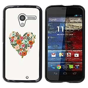 Paccase / SLIM PC / Aliminium Casa Carcasa Funda Case Cover - Spring Floral Pattern Love Summer - Motorola Moto X 1 1st GEN I XT1058 XT1053 XT1052 XT1056 XT1060 XT1055