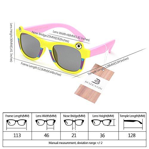 BOZEVON UV400 Polarisé Enfants Cute Cartoon Lunettes de soleil Style 03
