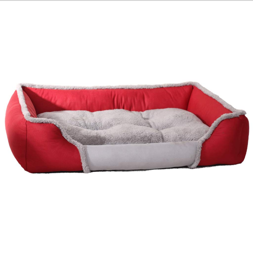 RED L (79X60X19) RED L (79X60X19) GYH Pet nest Pet bed dog mat double-sided available autumn and winter warm pet nest breathable bite-resistant dog mat 3 colors available ( ) (color   RED, Size   L (79X60X19))