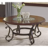 Gambrey Reddish Brown Color Round Cocktail Table