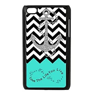 Live the Life You Love, Love the Life You Live. Turquoise Black White Chevron with Anchor luxury For Case Samsung Galaxy S5 CoverALL MY DREAMS