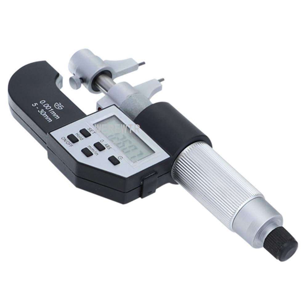 Werewtr//Digital Micrometer 5-30Mm 25-50Mm Ip54 Inside Micrometer 0.001Mm Inch//Mm Electronic Caliper Precision Measuring,25-50Mm