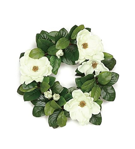 Magnolia Blossom and Leaf Wreath (18 in) (Of Wreath Leaves)