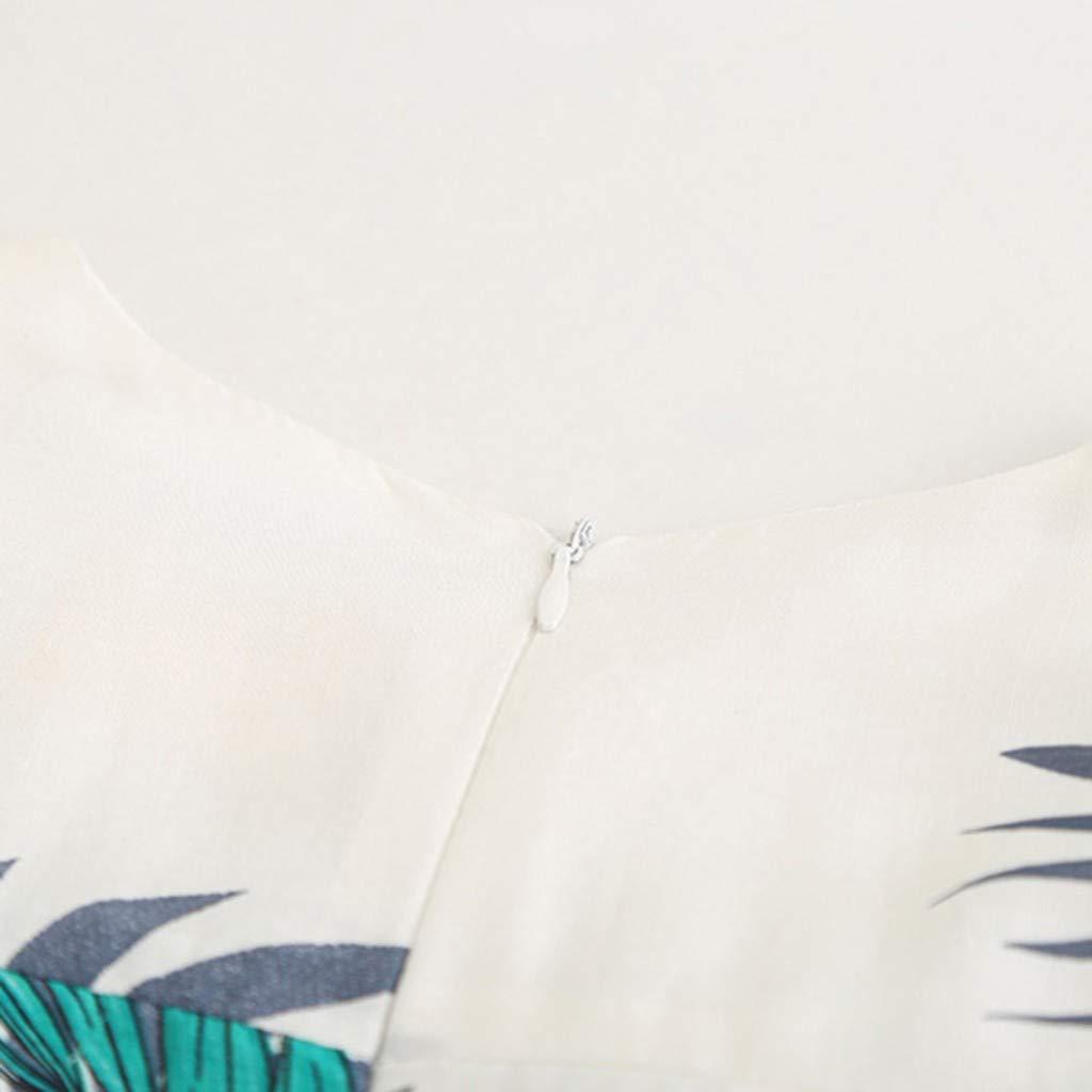 Vestido de Tirantes Ni/ñas Verano K-Youth Vestidos de Flores con Estampado de Hojas Ni/ña Reci/én Nacido Ni/ños Ropa de Ni/ña Tutu Princesa Vestido de Fiesta Sin Manga