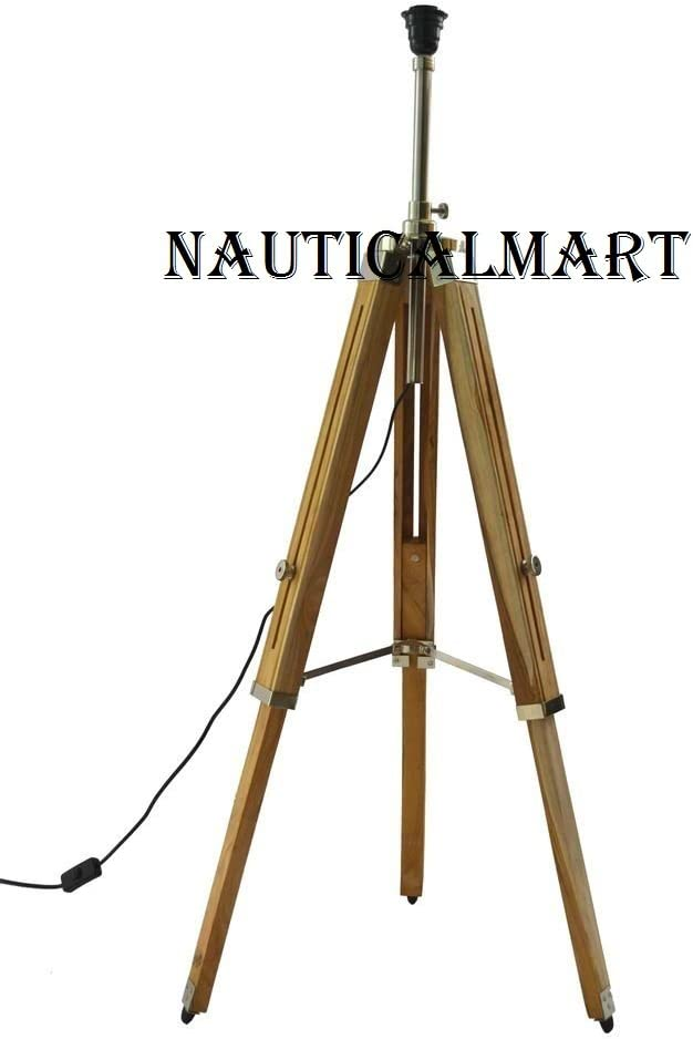 Vintage Classic teak - Floor lamp with wooden tripod floor lamp for home decoration