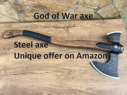 Amazon Com Hand Forged Leviathan Axe Viking Axe God Of