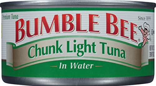 BUMBLE BEE Chunk Light Tuna In Water, Wild Caught, High Protein Food, Gluten Free, Keto, Canned Food, 12 Ounce Cans (pack of 12)