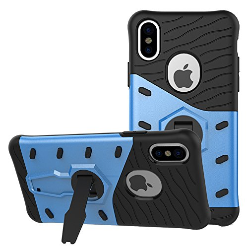 360 Degree Dual Pro Protective Case for Apple iPhone 6 Plus (Blue) - 4
