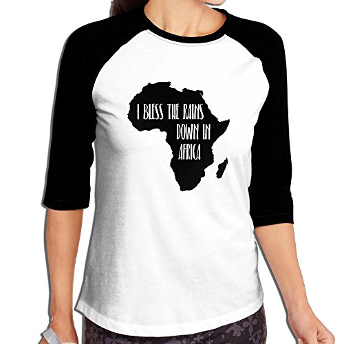 Fuucc-6 Women I Bless The Rains Down in Africa 3/4 Sleeve Jersey Shirt Raglan Baseball T-Shirts by Fuucc-6