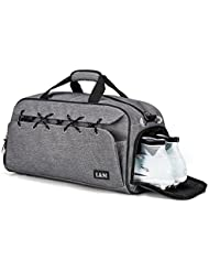 Sports Gym Bag Travel Duffel with Shoes Compartment for Men&Women