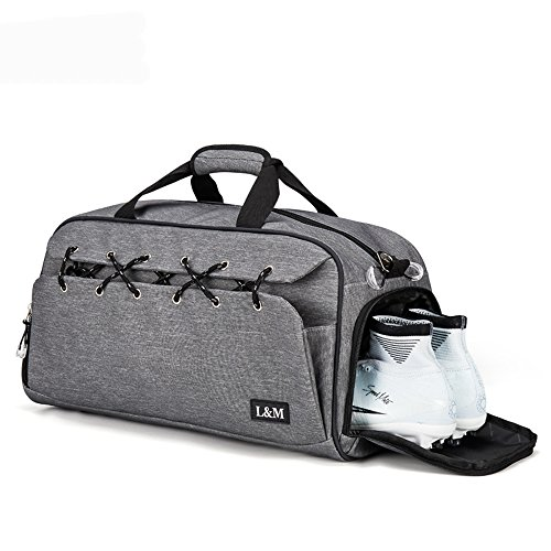 Sports Gym Bag with Shoe Compartment Water Resistant Holdall Travel Duffel  Bag for Men and Women with Wet Pocket - Buy Online in Oman. 680ae1c689