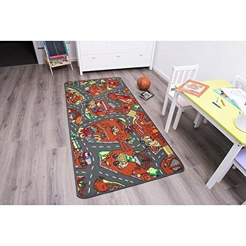 Kinderteppich Spielteppich BAUSTELLE - 1,60 x 2,00