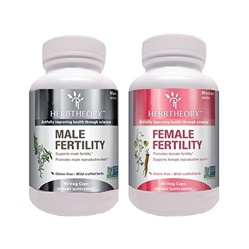 Herbtheory Male/Female Fertility Combo with Astragalus and Goji Berry Improves Male and Female Reproductive Systems For Sale