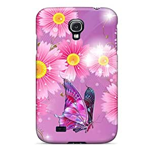 For Galaxy S4 Fashion Design Shine Of Flowers Pink Case-RIshi2826DOjCZ