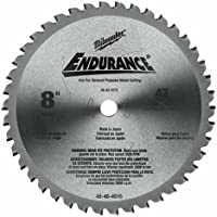 "Milwaukee Electric Tool 48-40-4515 Circular Saw Blade, 8"" Diameter x 0.073"" T, 42 Teeth, 5/8"" Arbor"