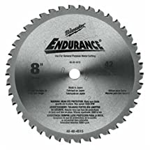 Milwaukee 48-40-4515 8-Inch 42 Tooth Ferrous and Non-Ferrous Metal Cutting Saw Blade with 5/8-Inch Arbor