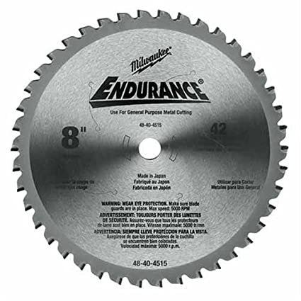 Milwaukee 48 40 4515 8 inch 42 tooth ferrous and non ferrous metal milwaukee 48 40 4515 8 inch 42 tooth ferrous and non ferrous greentooth Images