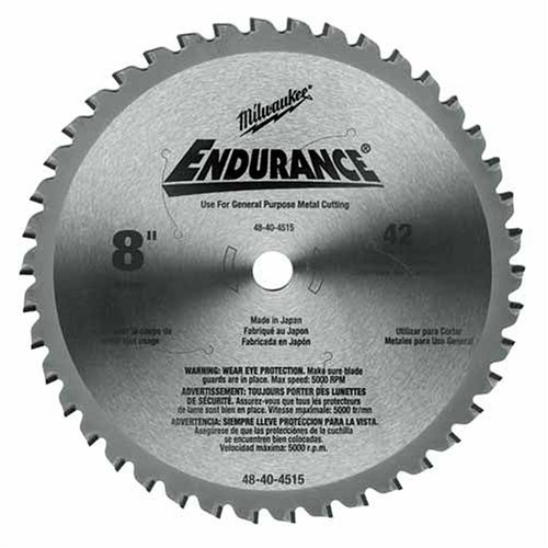 Diameter Blade - Milwaukee Electric Tool 48-40-4515 Circular Saw Blade, 8