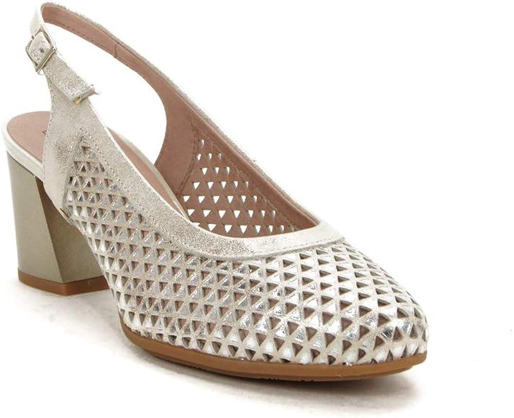 PITILLOS 5557 Zapato Talon Abierto Alto Mujer