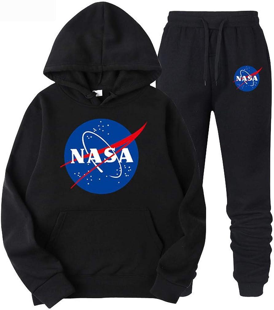 ATHIHOOD Hommes NASA Impression Surv/êtement Ensemble Hoodie Pull Homme Sweats /à Capuche et Pantalon de Jogging