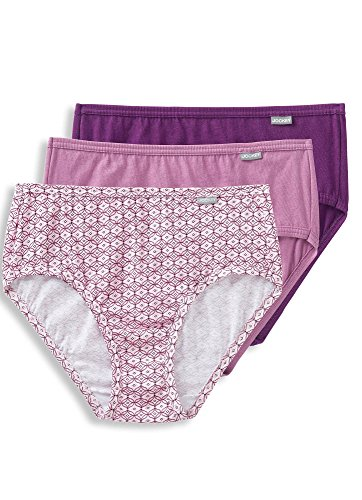 Jockey Women's Underwear Plus Size Elance Hipster - 3 Pack, Vintage Mauve/Dotted Tile/Absolute Plum, 9