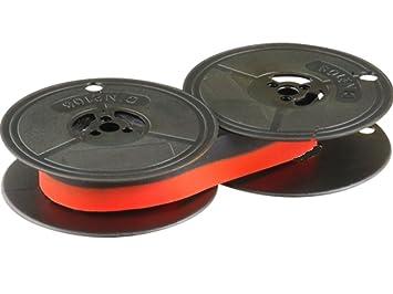 Cinta de color negro/rojo - para Olivetti Lettera 36 - Farbbandfabrik Original: Amazon.es: Oficina y papelería
