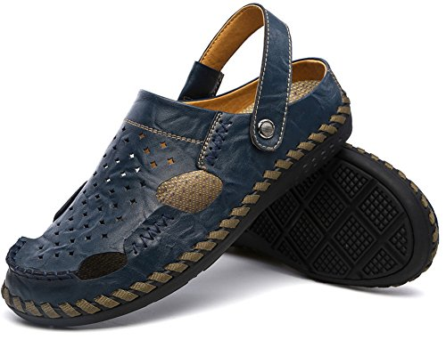 Vocni Heren Fashion Casual Outdoor Zomerschoenen Sandalen Blauw