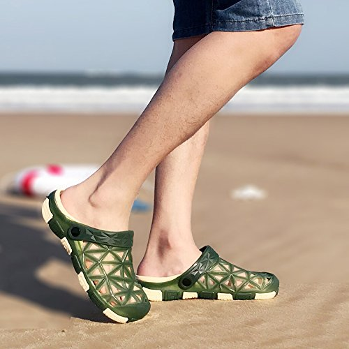 Pantuflas B Playa Macho Antideslizante Suaves fankou de Zapatillas Zapatillas Masculino de Verde Verano Baotou Corrientes 41 Fondo Cool Oscuro ffOaqEw