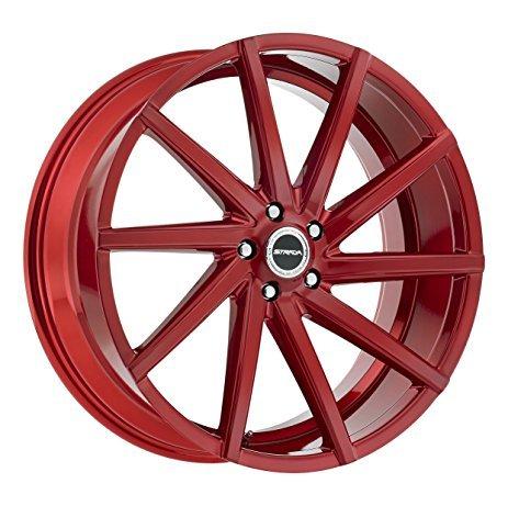 22 Inch Tires >> Amazon Com 22 Inch Strada Sega Candy Apple Red Wheels