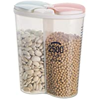 Cereal Storage Container, Multi Transparent Airtight Food Storage Box with Lids, Keep Pantry Snacks, Grains, Rice, Flour Fresh & Dry Kitchen Containers, 2.5L/85oz