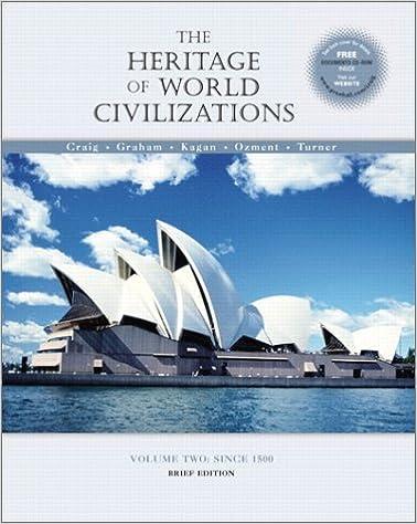 Amazon Com The Heritage Of World Civilizations Volume Ii Since 1500 Brief Edition 9780130340634 Graham William A Kagan Donald Ozment Steven E Turner Frank M Craig Albert M Books
