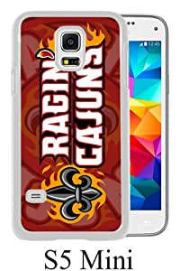 Beautiful And Unique Designed Case For Samsung Galaxy S5 Mini With Sun Belt Conference Football Louisiana Ragin Cajuns 8 white Phone Case