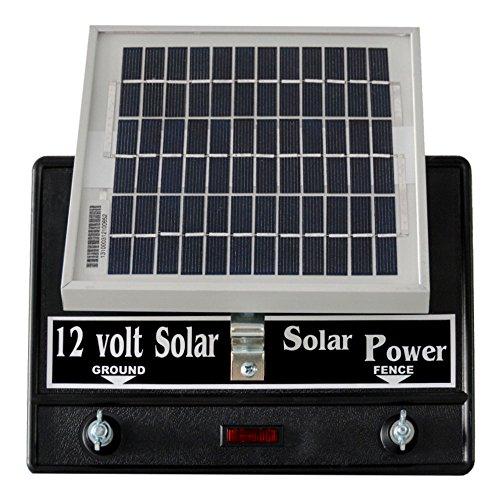(Solar Fence Charger 12 Volt 2 Joule/Free Lightning Diverter)