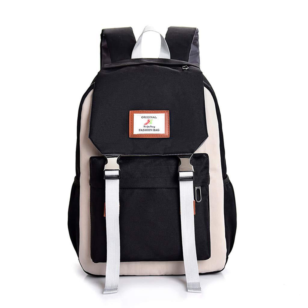 2019 Women Sequin Oxford Rucksack Backpack Anti-theft Shoulder Bag With Pendant