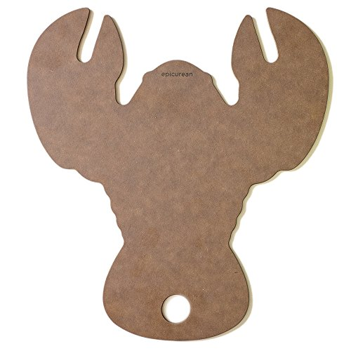 Epicurean Cutting Surfaces Novelty Series Lobster Cutting/Serving Board, Nutmeg -