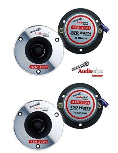 (2 Pair) Audiopipe ATR-3721 350W Max 4 Ohm Titanium Super Bullet (Bullet Tweeter)