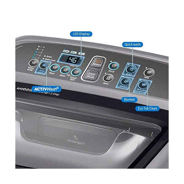 Samsung 6.2 Kg Fully-Automatic Top-Loading Washing Machine (WA62N4422BS/TL, Silver, ActivWash+) 2021 June Fully-automatic top load washing machine: Affordable with great wash quality, Easy to use Capacity 6.2 Kg: Suitable for bachelors & couples Product Warranty: 3 years on product, 10 years on motor