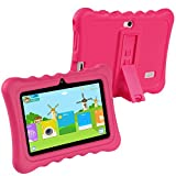 KOCASO [7 INCH] Quad Core [Android 4.4 KitKat] Kids HD Tablet PC- 8GB Storage W/ 32GB Expandable Memory, 1024x600, Dual Camera, WiFi/Bluetooth, Micro USB/SD Card Slot & FREE ACCESSORIES- Pink