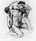 "Male Nudes Wrestling by John Singer Sargent - 20"" x 20"" Premium Canvas Print"