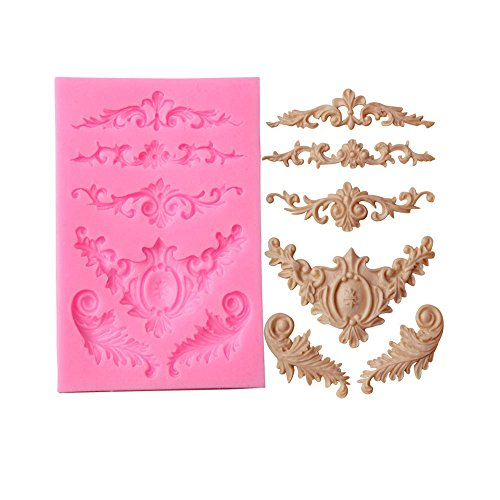 Silicone Sculpted Flower Lace Mould Candy Jello 3D Cake Mold by Fenleo